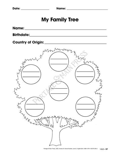 Family Tree Worksheet by My Family Tree Worksheet For Grade 1 Kindergarten