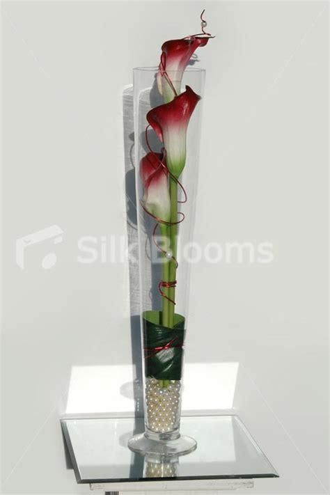 Vase Display by Shop Ivory Vanda Orchid Burgundy Wedding Vase