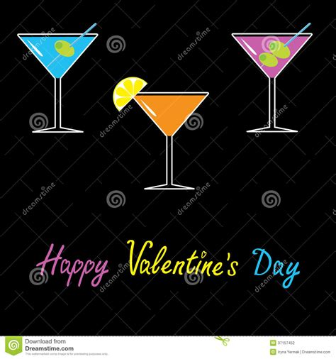 birthday martini white background martini set on black background valentines stock