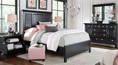 bedroom furniture set belmar black 5 pc bedroom bedroom sets black