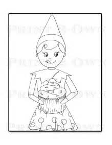 on a shelf coloring pages