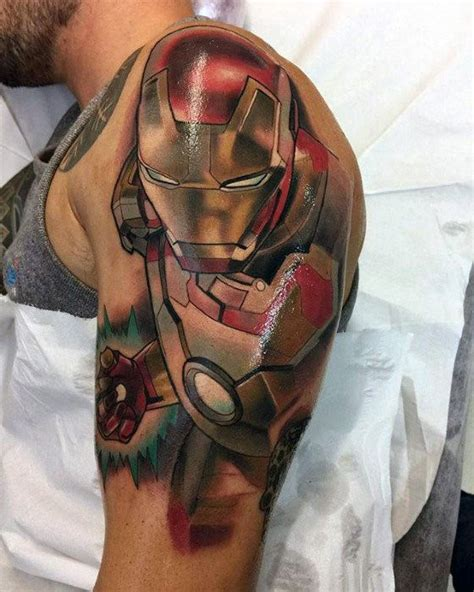 70 iron man tattoo designs for men tony stark ink ideas