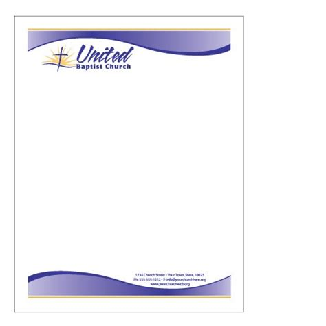 Sle Church Letterhead Free Printable Letterhead Church Stationery Templates