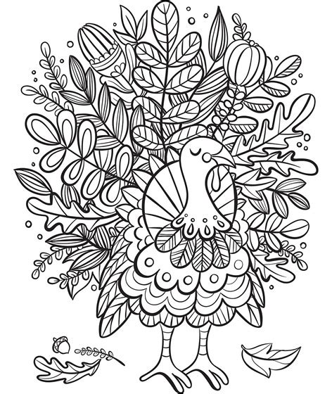 crayola coloring pages thanksgiving turkey foliage coloring page crayola com
