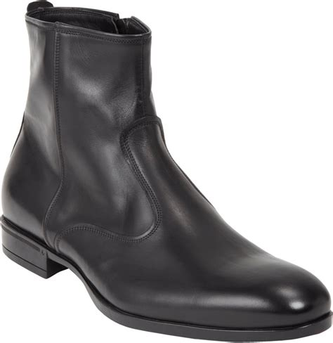 From Designer Shoes To Designer Zip Codes 2 by Doucal S Side Zip Boot In Black For Lyst