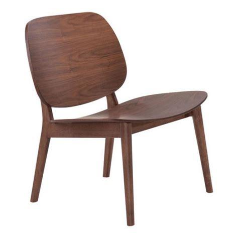 Wooden Accent Chair Fleet Walnut Wood Accent Chair Modern Furniture Brickell Collection
