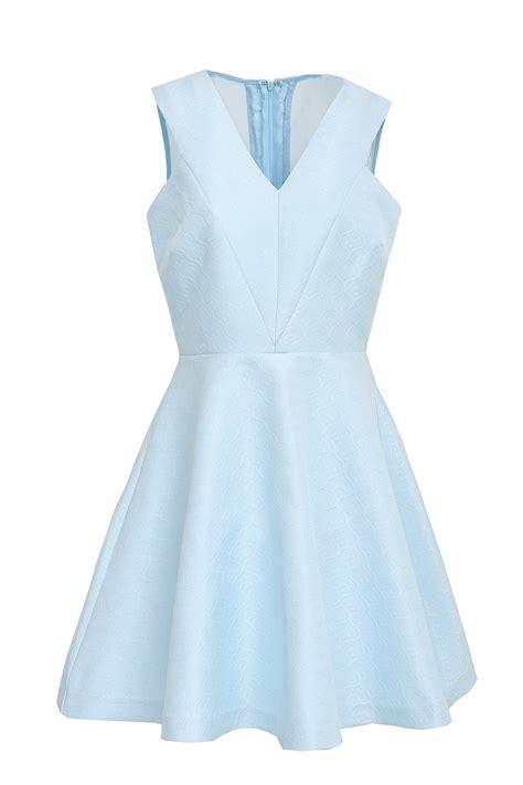 frnch sky blue skater dress