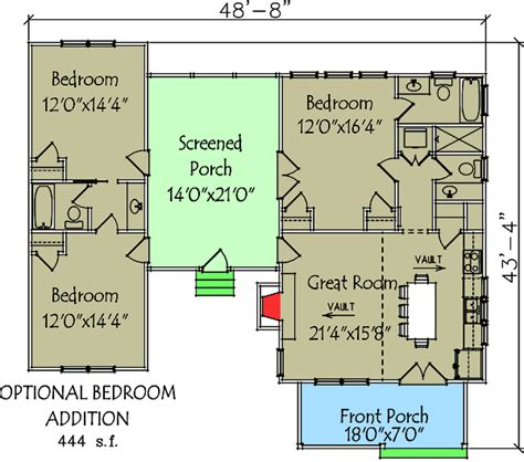dogtrot floor plan plan 92318mx 3 bedroom dog trot house plan narrow lot