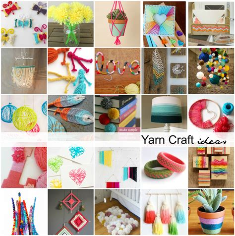 and crafts ideas for yarn craft ideas the idea room