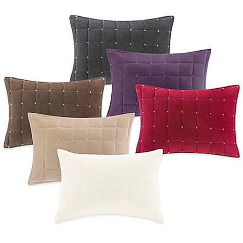 bed bath and beyond throw pillows buy quilted velvet oblong throw pillow from bed bath beyond