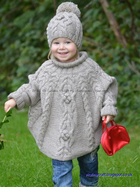 knitting pattern 2 year old hat knitting pattern temptation poncho and hat set toddler