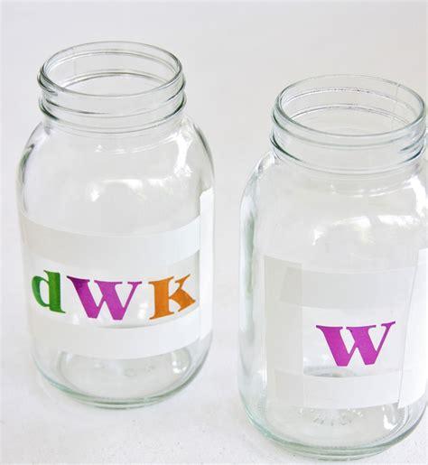 etched monogram mason jars diy thistlewood farm