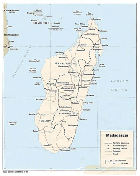 political map of madagascar political and administrative map of madagascar with major