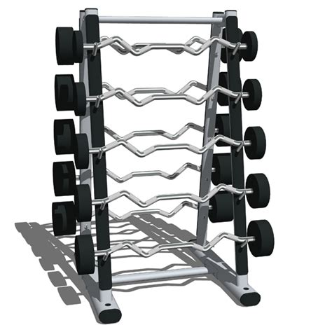 Run The Rack Db Curls by Weights Storage Stations 01 3d Model Formfonts 3d Models