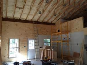 Metal Building Interior Walls by How One Built His Pole Barn House Milligan S