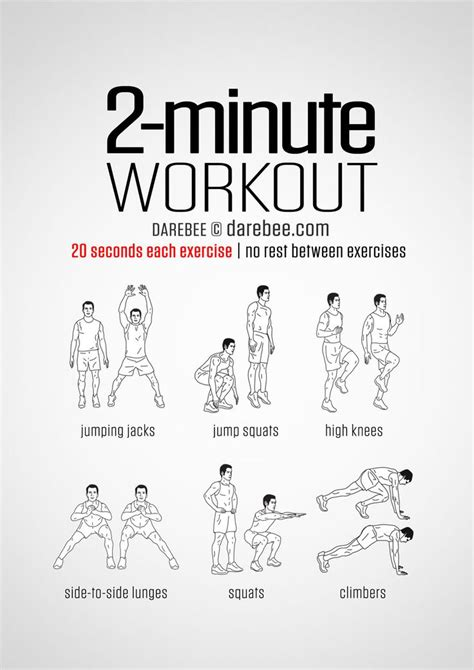 high intensity 2 minute easy no equipment workout six