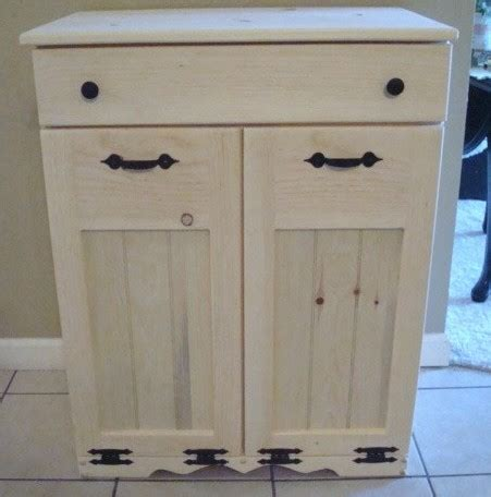 trash and recycling cabinet unfinished handcrafted wooden trash recycle bin pet