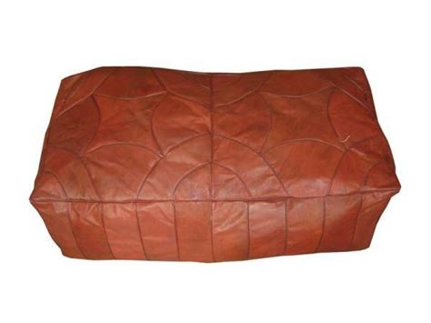 leather ottoman footstool brown leather ottoman moroccan bench footstool