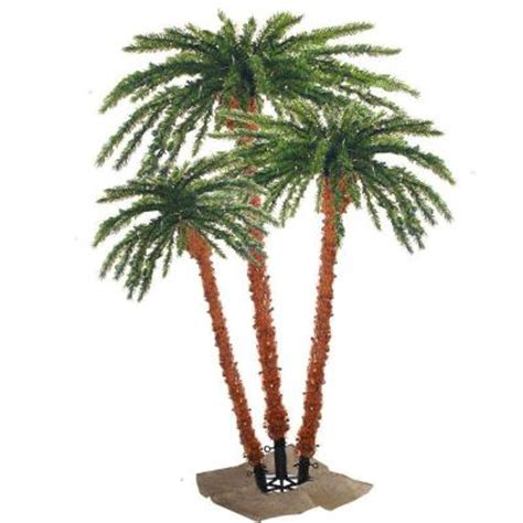 outdoor lighted palm tree home depot sterling pre lit palm artificial christmas tree with clear