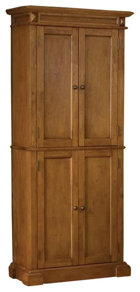 oak kitchen pantry storage cabinet home styles kitchen pantry in distressed oak finish