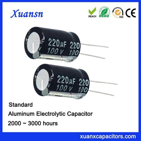 capacitor hours 220uf 100v lead aluminum electrolytic capacitors