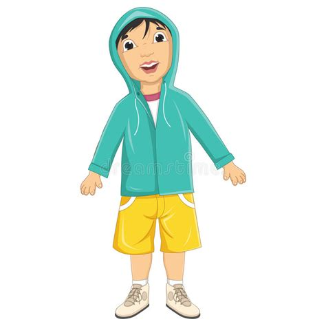 Is Wearing A by Boy Wearing Jacket Vector Illustration Stock Vector