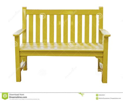 the yellow bench yellow bench stock image image of green city leisure