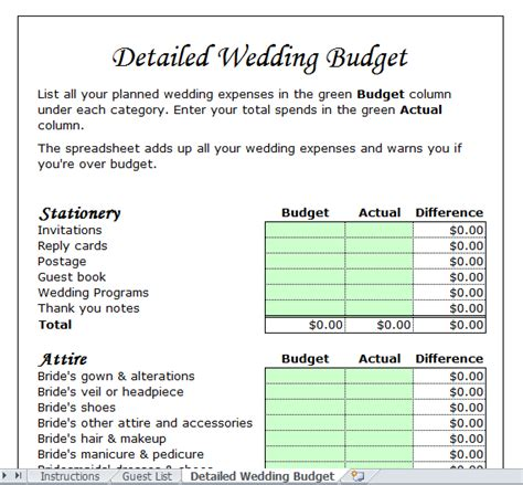 Wedding Budget Estimator by Wedding Budget Template For Excel 2013 Excel Tmp