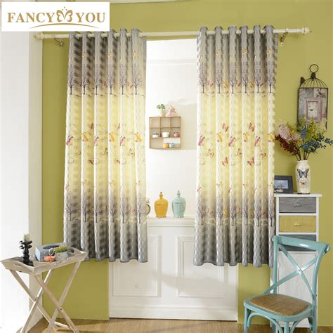 short bedroom window curtains butterfly blackout short window curtains for living room