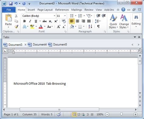 Ms Office Trial by Microsoft Office 2010