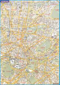 athens map map of athens greece