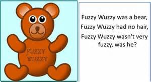 fuzzy wuzzy brown bear subtitle fuzzy wuzzy white show pictures pin