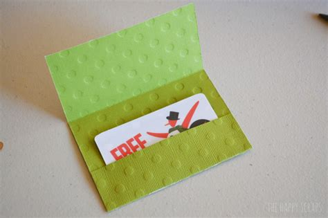 how to make a card holder simple gift card holder the happy scraps