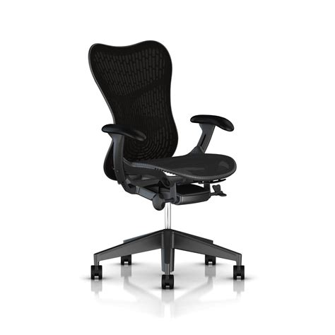 Herman Miller Mirra Chair by Herman Miller All Graphite Mirra 2 Chair Office