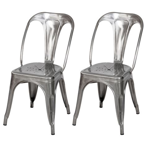 Chaise Industrielle by Chaise Indus Chrome Lot De 2 D 233 Couvrez Nos Chaises