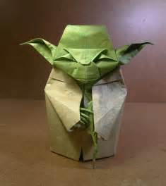 Simple Origami Yoda - wars origami episode ii clones droids yoda and more