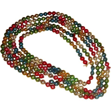 multicolor glass beads christmas garland decoration nearly