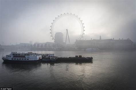 thames river today britain basks in 17 degrees sunshine but more fog is on