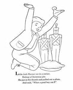 little jack horner nursery rhyme coloring page coloring pages
