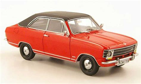 opel olympia 1970 opel olympia a ls red black 1970 neo diecast model car 1