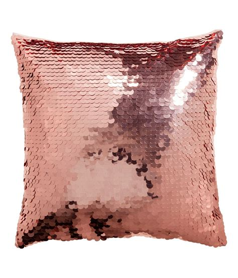 Instan Sequin gold sequin cushions with satin back add instant