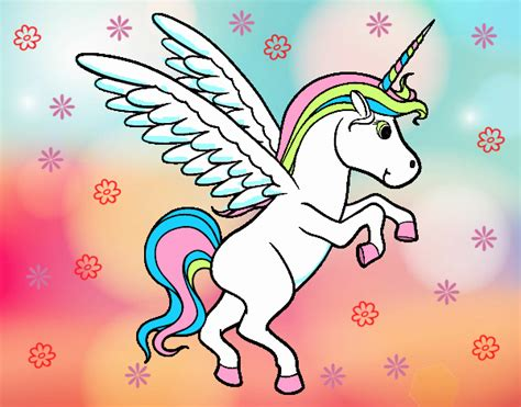 Imagenes De Unicornios A Color | dibujo de unicornio joven pintado por yuleiby en dibujos
