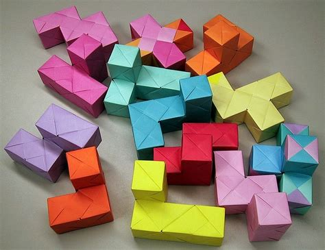 Origami Soma Cube - 1000 images about origami cubes on origami