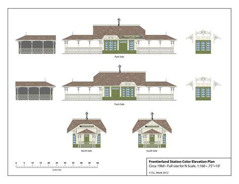 building layout pointe north station disneyland frontierland station plan free download