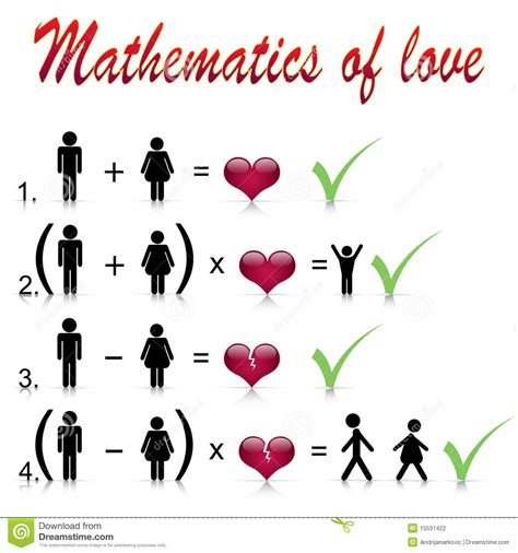 matematica di amore illustrazione vettoriale immagine di - Preguntas Generadoras Para Matematicas