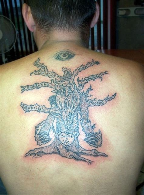 funny tattoos for men back family tree for tattoos