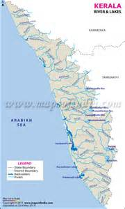 map of rivers and lakes rivers and lakes in kerala