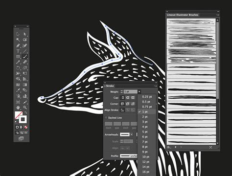 illustrator pattern brush without distortion 25 free linocut woodcut brushes for adobe illustrator