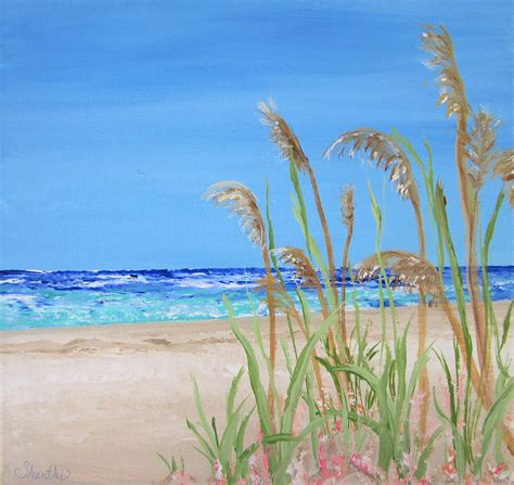 relaxing paintings fine art america sea oats painting by shanthi thiruppathi