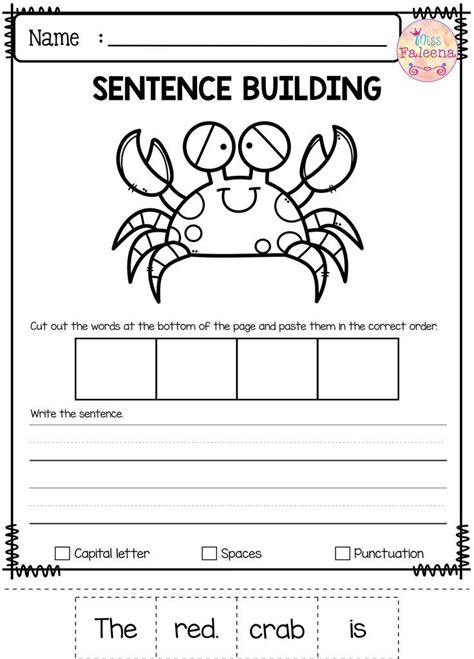 Kindergarten Sentence Worksheets by 1359 Best It S About Time For Freebies Images On